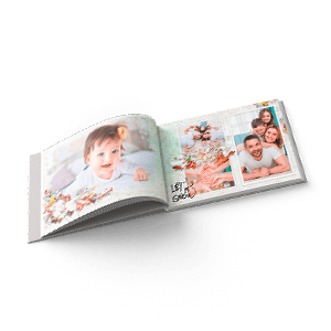 Hardcover photo book with a 180-degree spread 20x15