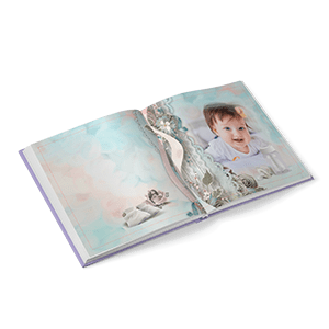 Hardcover photo book with a 180-degree spread 20x20