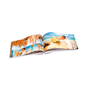Hardcover photo book with a 180-degree spread 28x20